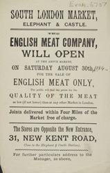 Advert for the English Meat Company